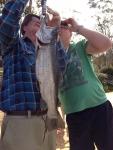 James Sefton & Norm 4.10.12 3kg brown trout.JPG